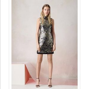 French Connection Bronze Moon Rock Sparkle Dress 2
